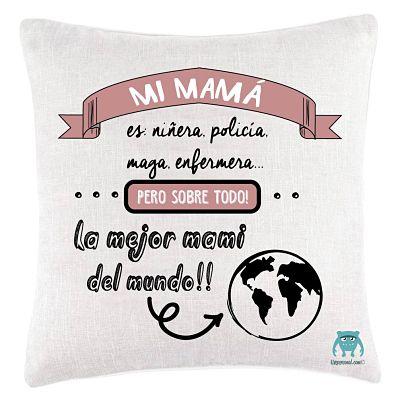 Cojín mamá mundo